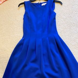 NWOT Calvin Klein A-Line Blue Dress, Size 2